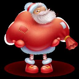 童心圣诞老人png图标 256x256png图标 Png素材 素彩图标大全