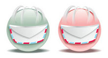 各种颜色的邮件PNG图标