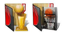 精美木制桌面篮球文件夹PNG图标