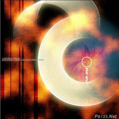 ps制作抽象魔幻效果的圆形网格