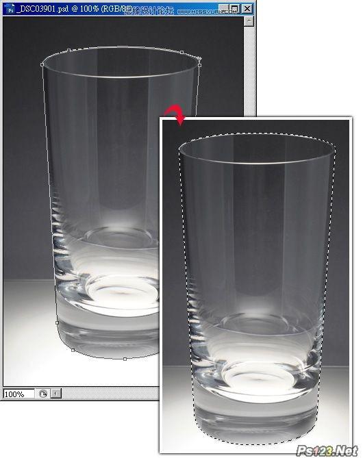 ps通道抠出透明玻璃杯教程
