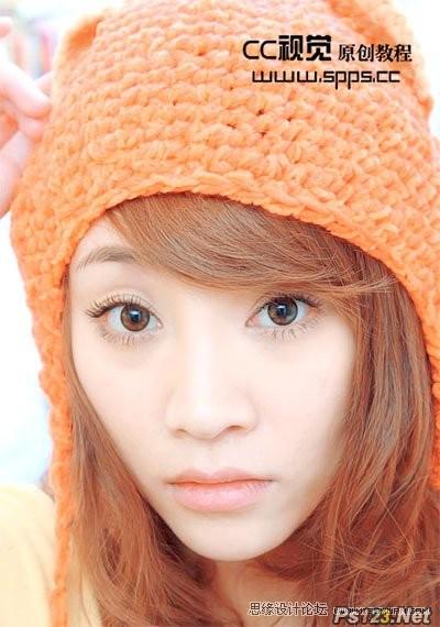 ps调出时尚甜美的人物粉橙色调