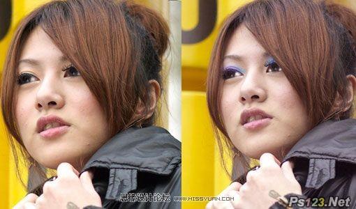 ps打造美女迷人的眼妆