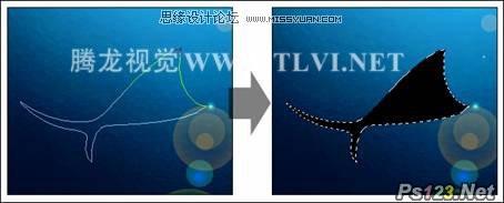 ps合成清新的海底插画效果