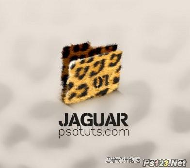 ps制作一款豹纹图案的文件夹图标