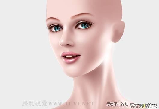 psCG人物精绘技法:人物鼻子,嘴唇和眉毛的制作