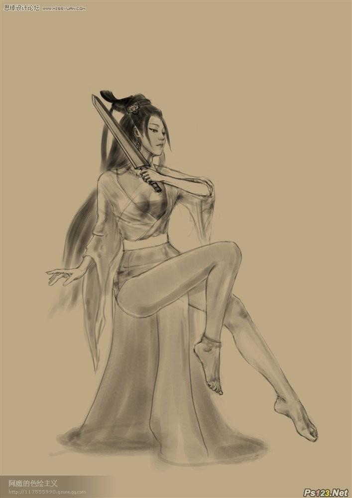 ps鼠绘楚汉之争的游戏角色虞姬