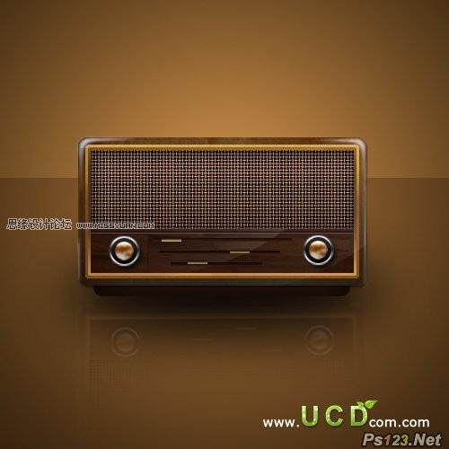 ps制作逼真的老式收音机