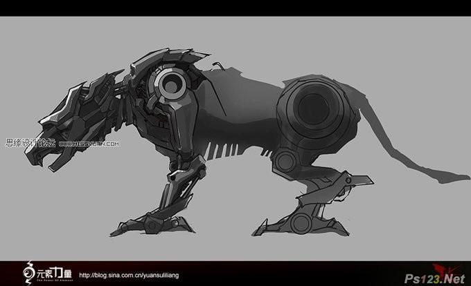 ps制作超酷的机器战狼教程