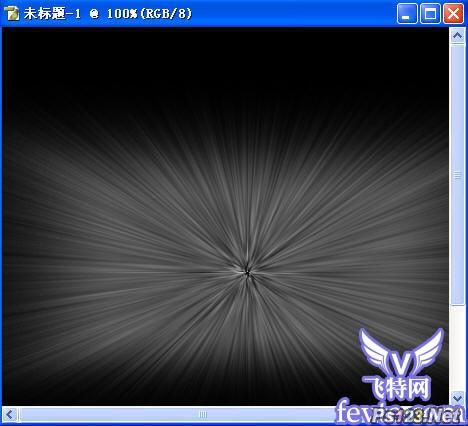 PhotoShop打造超酷放射特效 飞特网 PS滤镜教程