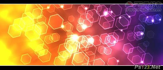 PS滤镜制作光线图形背景 飞特网 PS滤镜教程
