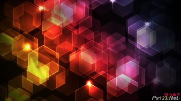 PS滤镜制作绚丽六边形背景 飞特网 PS滤镜教程