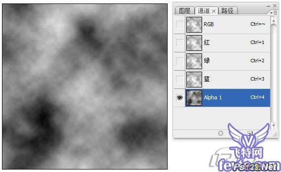 Photoshop滤镜打造旧砖墙的水泥 飞特网 PS滤镜效果教程