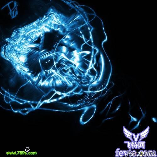 photoshop滤镜制作光束漩涡 飞特网