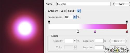 Photoshop滤镜制作眩目的螺旋光线