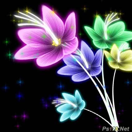 PS滤镜制作漂亮五彩花朵 飞特网 PS滤镜教程