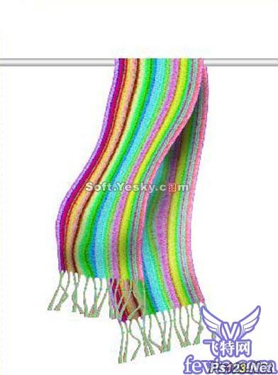 用滤镜制作彩虹围巾 飞特网 PS滤镜教程