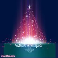 ps教你制作梦幻的彩色光斑圣诞树