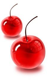 ps教你制作剔透的红色玻璃樱桃