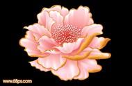 ps教你制作一朵漂亮的粉红色牡丹