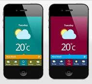 ps教你制作简洁大气的手机天气展示界面