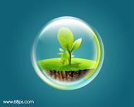 ps教你制作漂亮的环保气泡图标