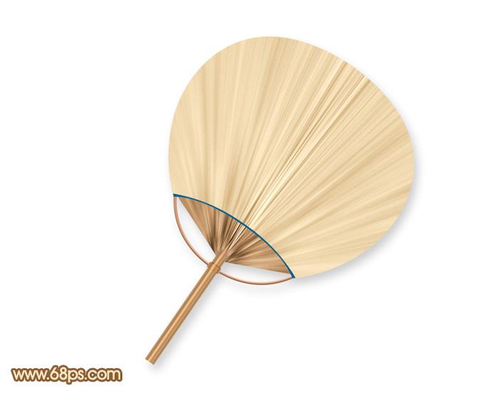 ps教你制作一把精致的棕扇