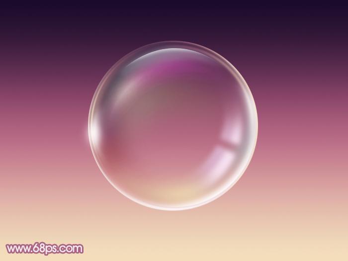 ps教你制作漂亮的紫色气泡