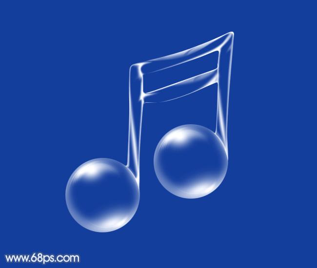 ps教你制作一个通透的连音符泡泡