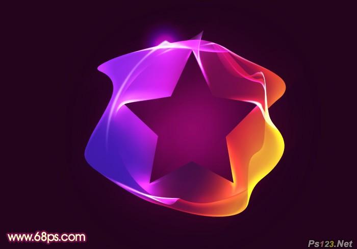 ps教你制作漂亮的彩色五角星光束