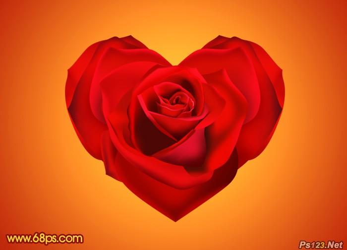 ps教你制作漂亮的情人节心形玫瑰