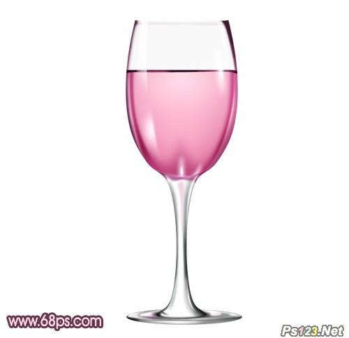 ps教你制作盛有红酒的玻璃酒杯