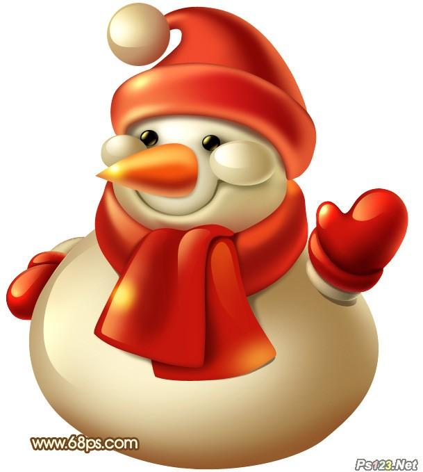 ps教你制作非常可爱的3D圣诞雪人