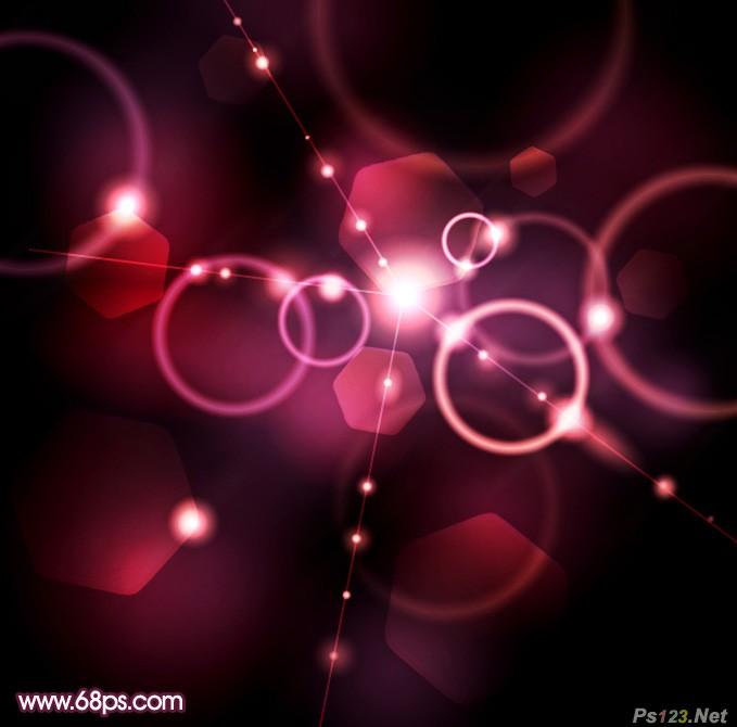 Photosho教你制作绚丽的潮流光斑