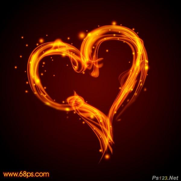 ps打造漂亮的情人节火焰心形