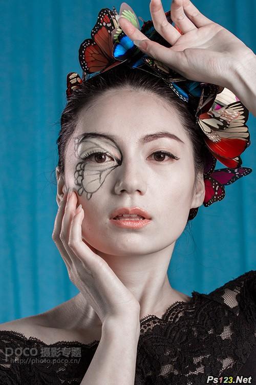 室内商业人物图片的修图及美化过程