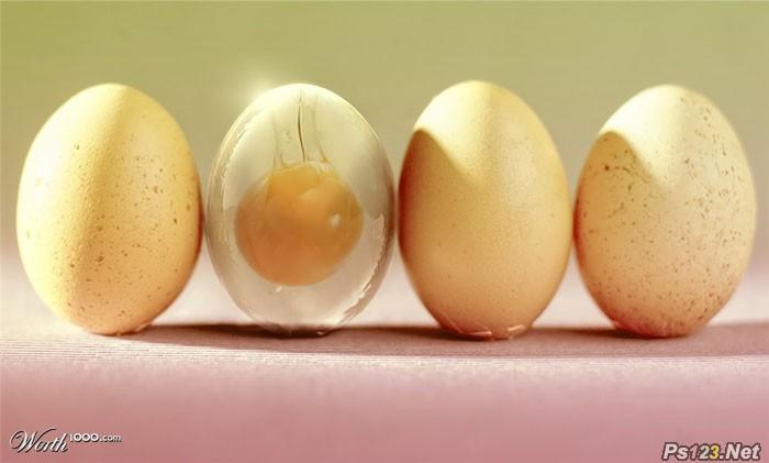 PS合成一个半透明的鸡蛋