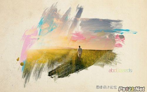 ps教你制作中国风的水彩化照片效果