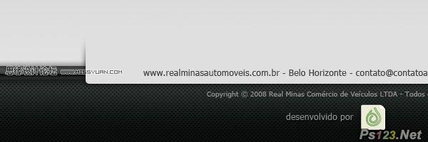 ps设计非常漂亮的网页页脚