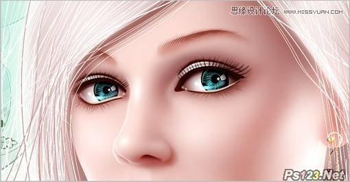 psCG人物精绘技法:人物眼睛的教你制作技巧