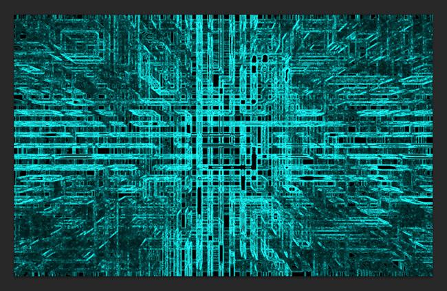 利用滤镜教你制作非常有科技感的电路背景