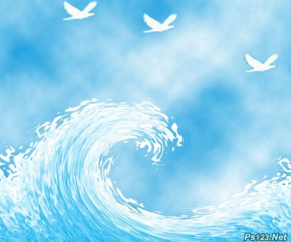 PS滤镜教你制作波浪效果