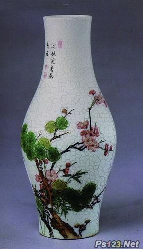 PS滤镜教你制作裂纹花瓶