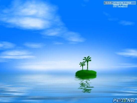photoshop滤镜教你制作海天相接美景