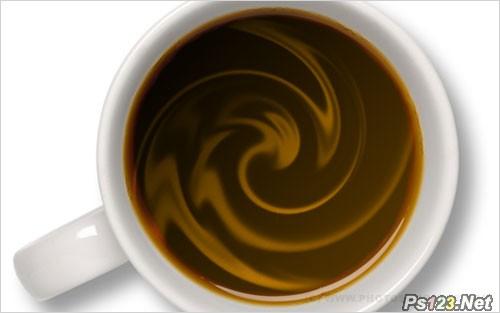 PS滤镜教你制作被搅动的咖啡