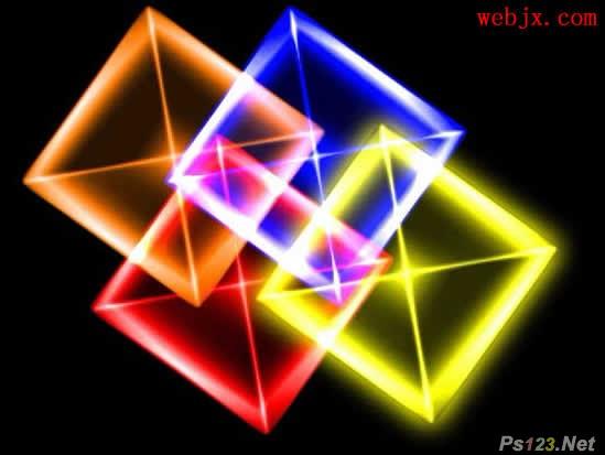 PS滤镜教你制作漂亮水晶立方体