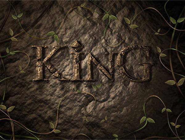 利用滤镜及图层样式教你制作超酷的褐色岩石字