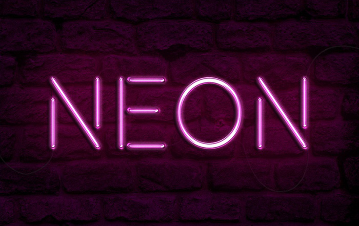 利用图层样式教你制作漂亮的紫色霓虹字