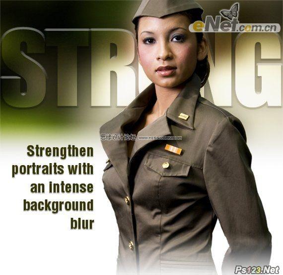 ps把美女照片转成海报效果