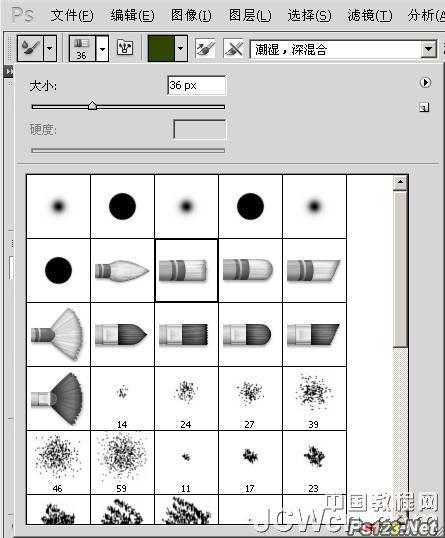 psCS5教程:使用混合器画笔工具把照片转成绘画效果